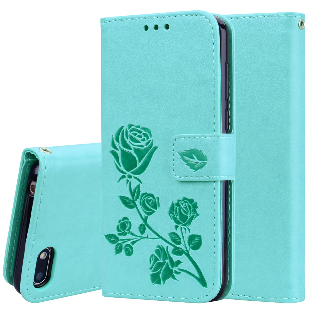 For <font><b>Huawei</b></font> <font><b>Honor</b></font> 7A <font><b>Case</b></font> <font><b>Flip</b></font> 5.45 inch 3D Rose Flower Pattern Leather Wallet Book <font><b>Case</b></font> on for <font><b>Huawei</b></font> <font><b>Honor</b></font> 7A <font><b>7</b></font> A dua-L22 Cover image