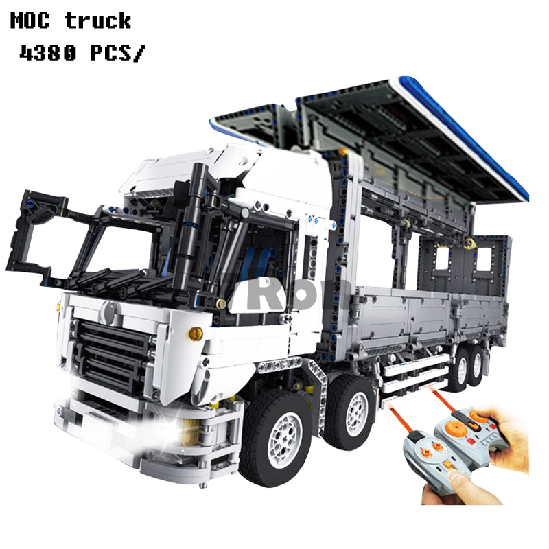 Models building toy 23008 4380pcs MOC truck Building Blocks Compatible with lego Techinc Series 1389 toys & hobbies 23008 4380pcs technical series the moc wing body truck set compatible with 1389 educational building blocks children toys