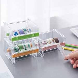 Cutter Organizer Masking-Tape-Cutter Tape-Dispenser Stationery School-Supplies Desktop
