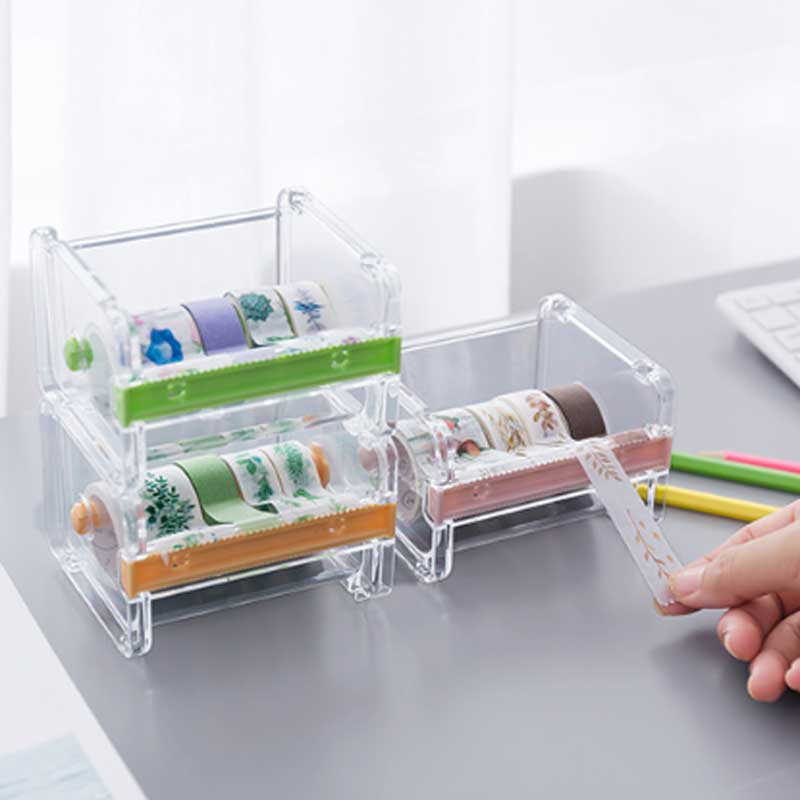 1 Pcs Japanese Stationery Masking Tape Cutter Washi Tape Storage Organizer Cutter Desktop Office Tape Dispenser  School Supplies