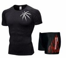 Мужская футболка для плавания Майки и трусы Боксеры Шорты Купальники с короткими брюками Купальники