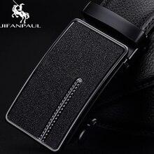 JIFANPAUL ремень мужской кожаный черный автоматическая пряжка тренд Молодежная Кожа Личность Простой бизнес высокое качество ремни