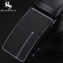 JIFANPAUL Belt Mens Leather Black Automatic Buckle Trend Youth Personality Simple Business High Quality Men Belts
