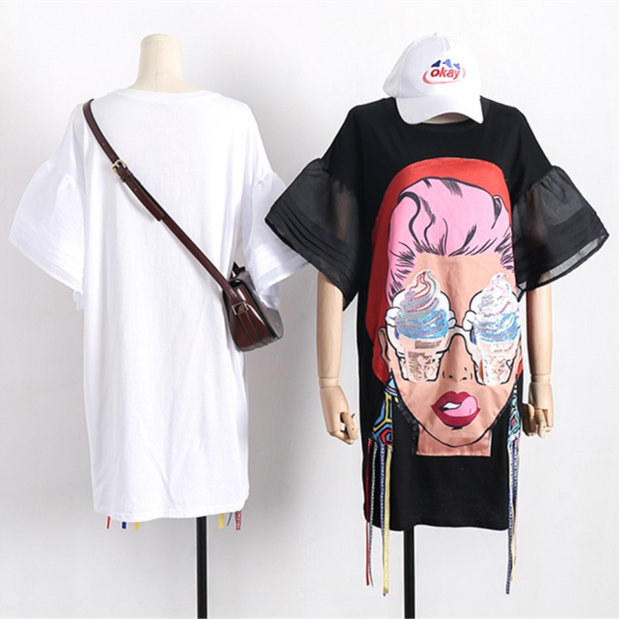 Cartoon Cotton Women Dress 1