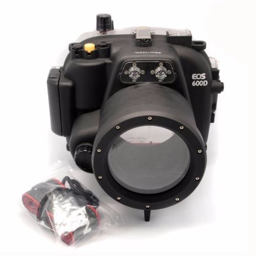 40M/130ft Meikon Waterproof Underwater Camera Housing Case for Canon 600D T3i meikon 40m waterproof underwater camera housing case bag for canon 600d t3i