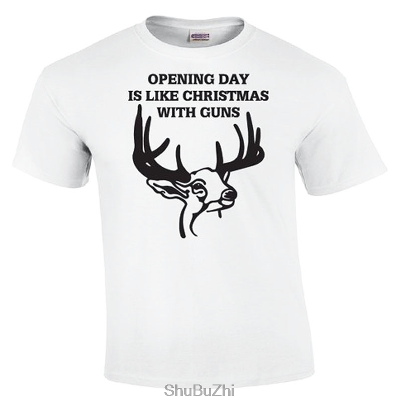 Opening Day Is Like Christmas  Deer Hunting Shirt men top tees new brand tee-shirt man cotton tshirts euro size summer
