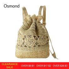 d1a5e81dab Osmond 2017 Spring Summer String Backpack Preppy Style Women Bag Fresh Beach  Knitting Bag Ladies Straw