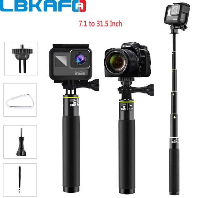 LBKAFA Palo de Selfie de 7,1 a 31,5 pulgadas trípode monopié impermeable, soporte portátil para Gopro Hero 8 7 6 5 SJCAM SJ4000 SJ5000 SJ6 DJI