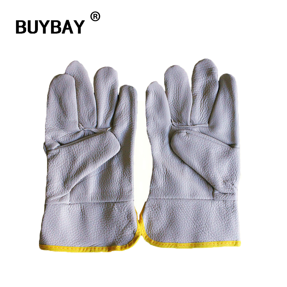 Gant jardinage Mens Work Driver Gloves Security luva Wear-resistant Safety Workers Welding Garden Hunting Gloves clip guantes