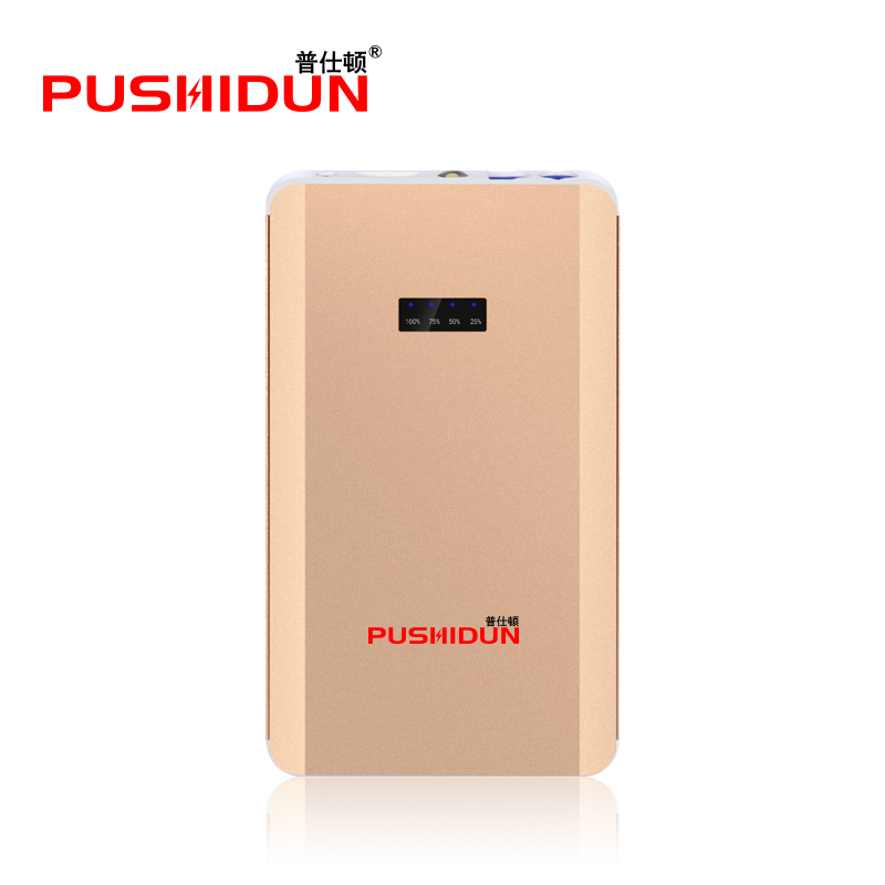 PUSHIDUN 12V Car Jump Starter 8000mAh Car Battery Booster Power Bank Metal Case with LED Light