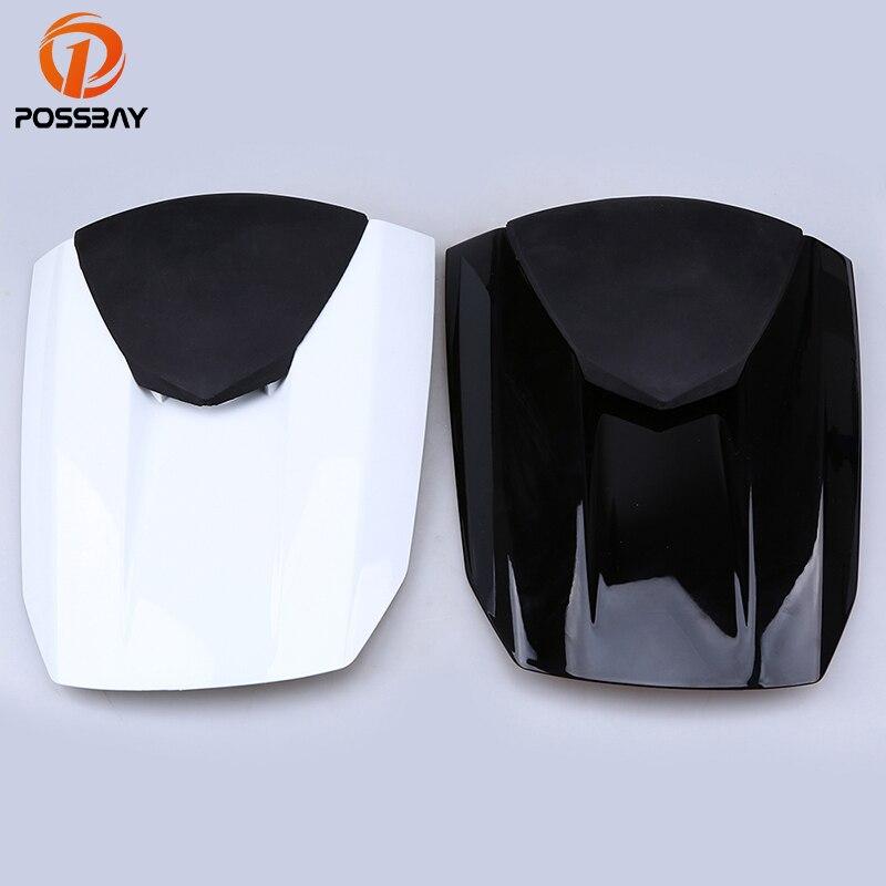 все цены на POSSBAY Motorcycle Black White Rear Tail Seat Cowl Fairing Cover Fit for Honda CBR600RR F5 2013 Motorbike Passenger Seat Pad онлайн