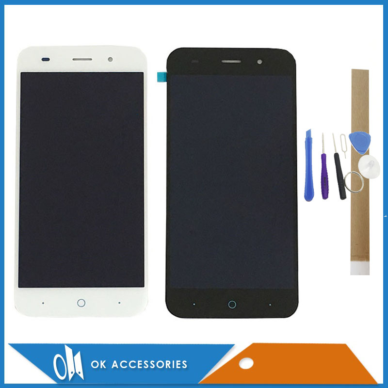 Black White Color For ZTE Blade Z7 X7 V6 D6 T660 T663 LCD Display Touch Screen Digitizer Assembly With Tools Tape