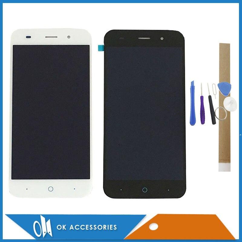 Noir Blanc Couleur Pour ZTE Lame Z7 X7 V6 D6 T660 T663 LCD Affichage à L'écran Tactile Digitizer Assemblée Avec Des Outils bande