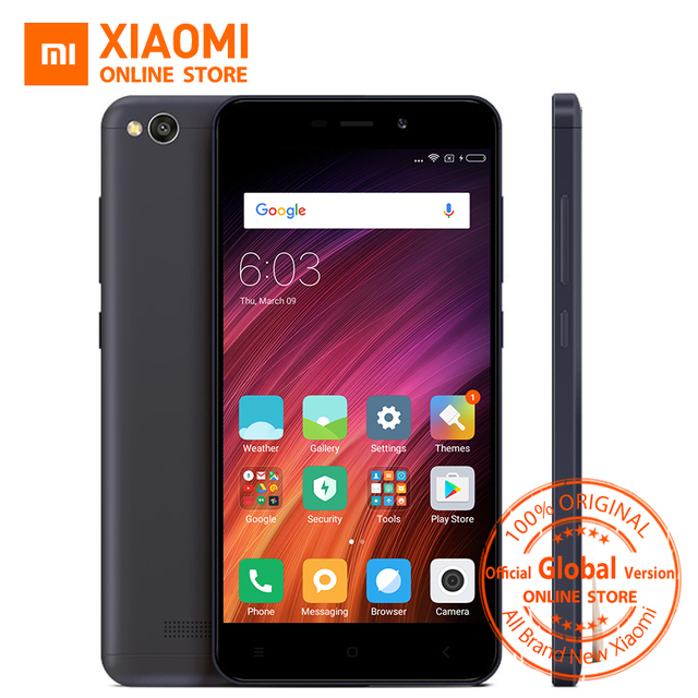 Глобальная версия Xiaomi Redmi 4A 4 2 ГБ Оперативная память 32 ГБ Встроенная память мобильного телефона Snapdragon 425 Quad Core Процессор 5.0 дюймов 13.0MP 3120 мАч MIUI 8.5