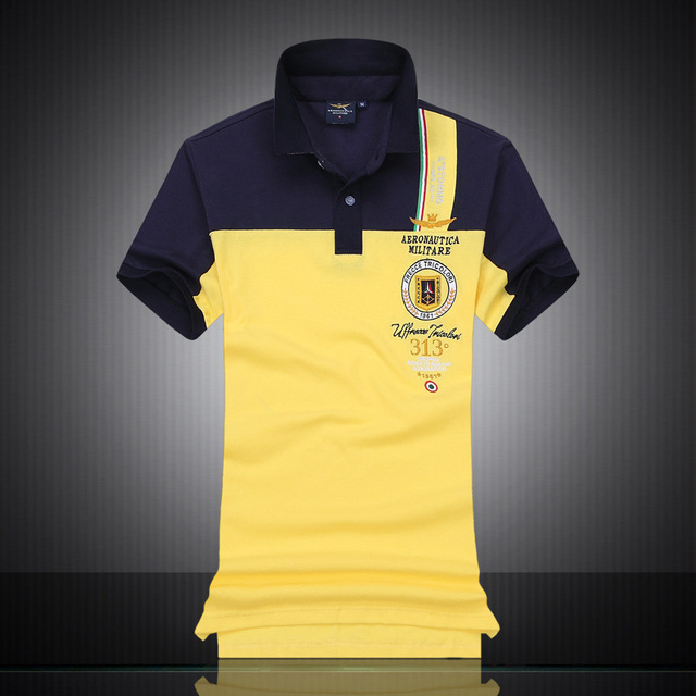 766e2449206 2016 New Cotton AERONAUTICA MILITARE Air Force One polo shirt Embroidery  Aeronautica
