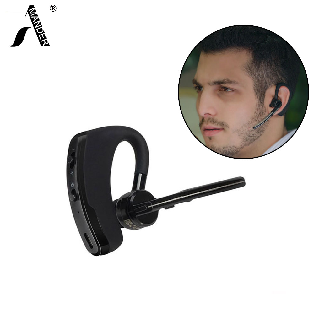 AmericaMander V8 Wireless Bluetooth headset Business Hands free Noise Cancelling earphone headsets With Mic Stereo wireless bluetooth headset mini business headphones noise cancelling earphone hands free with microphone for iphone 7 6s samsung