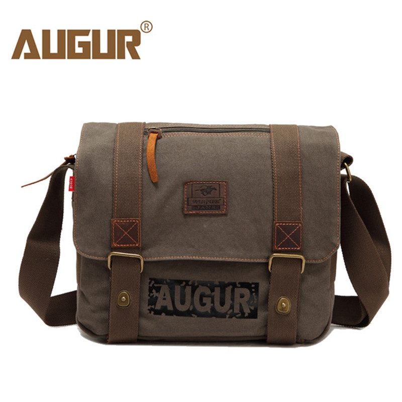 AUGUR Brand Men's Messenger Bags High Quality Canvas Shoulder Bags Male Army Military Crossbody Tote Bag Casual Travel Bag augur canvas leather crossbody bag men military army vintage messenger bags large shoulder bag travel bags pd0213