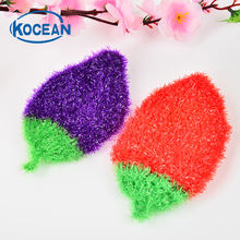 5pcs/lot new Lovely Fruit Print Hanging Kitchen Towel Sponge Towels Quick-Dry Cleaning Rag Dish Cloth Wiping Napkin
