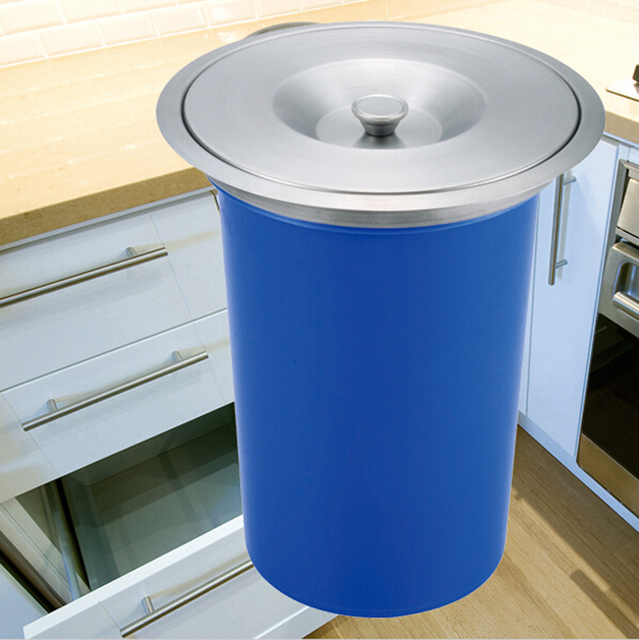 8l abs arbeitsplatte tischplatte küche abfall papierkorb behälter ...
