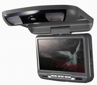 9inch car lcd monitor with USB/SD/IR/FM/wireless game 180 degree rotatable screen built in speakers
