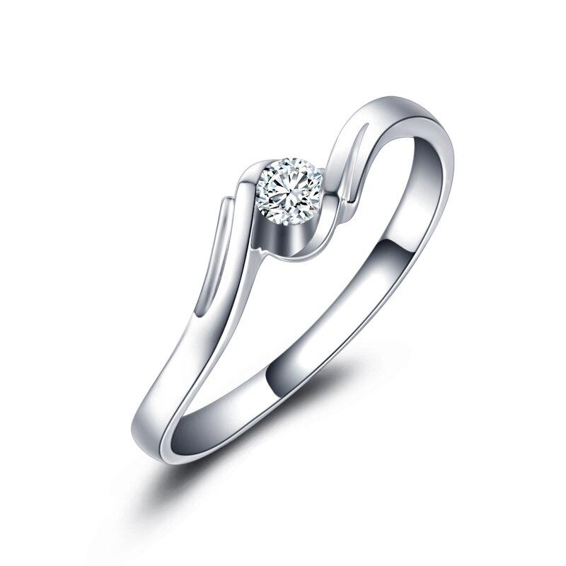 18 karat Weißgold Platin Diamant-ring Platin Roségold Ehe Suche Paar Ring Ring...