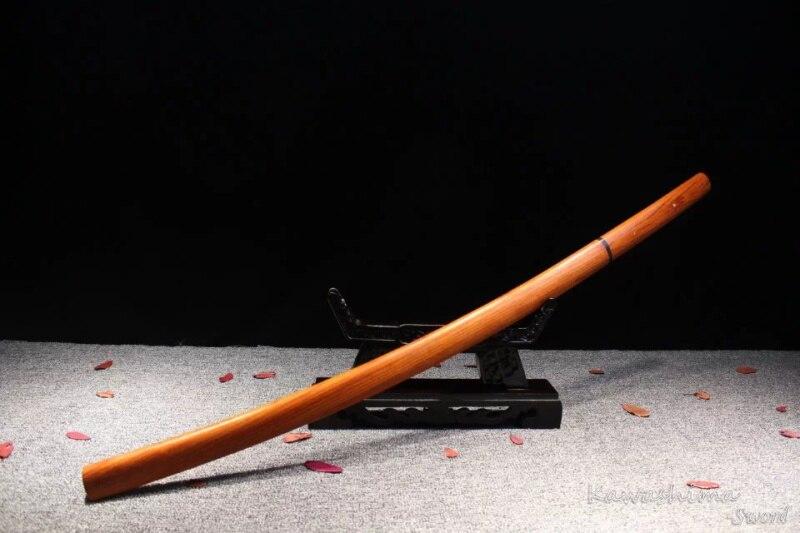 Forgiato a mano 1045 In Acciaio Al Carbonio Samurai Sword Shirasaya Legno di Rosa Fodero Reale Giapponese Katana Nitidezza Pieno Tang Nuova Fornitura-in Spade da Casa e giardino su  Gruppo 2