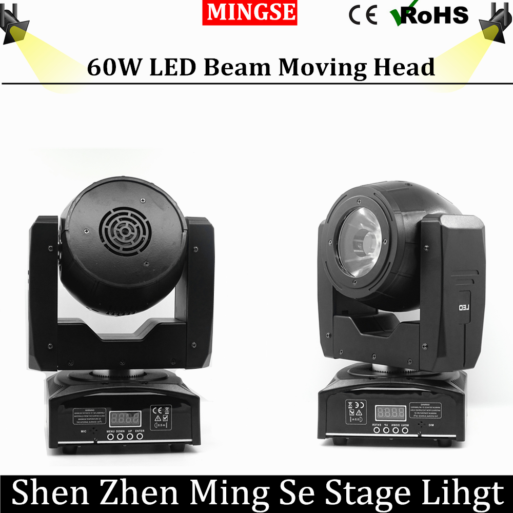 60W LED Beam Moving Head Light Spot Light with Rotation Function for DJ Disco Stage  Projector Dmx 7/16 Channels Stage Light LED 4pcs lot flash 2r moving head 120w moving head beam spot light dmx stage light 2r beam bar dj disco stage effect light