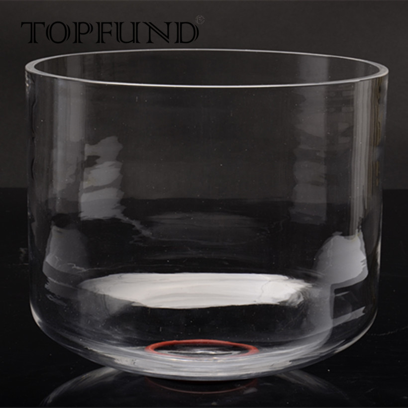 TOPFUND F Note Heart Chakra Clear Quartz Crystal Singing Bowl 10'',O ring and Mallet included,For Meditation yoga practice