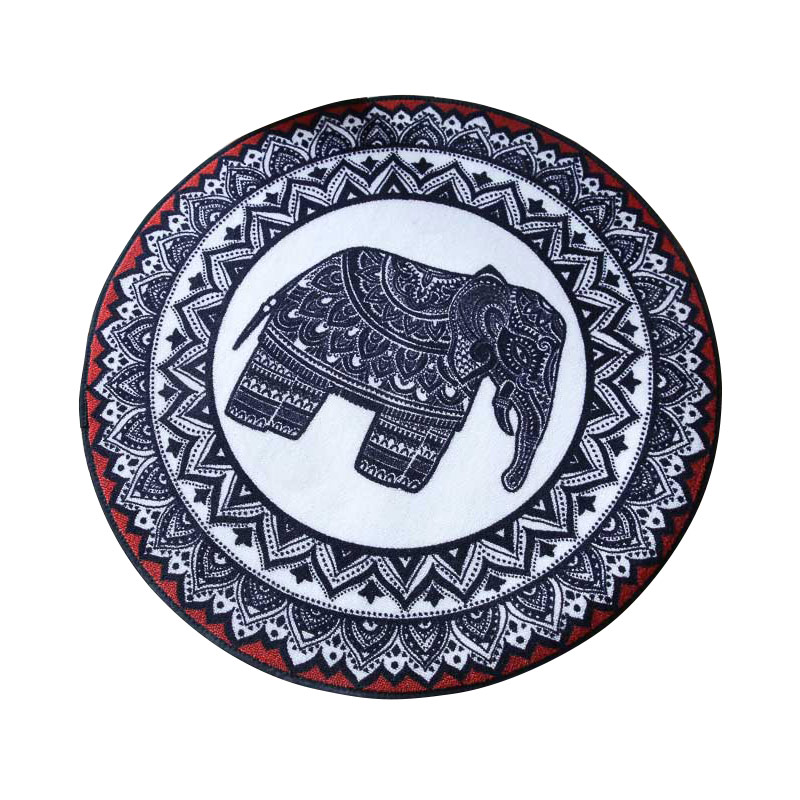Tapis de maison tapis circulaire éléphant salon chambre tapis de porte