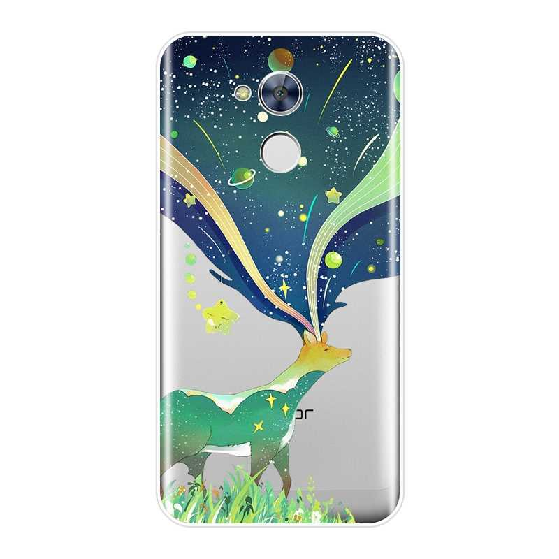 Phone Case Silicone For Huawei Honor 4C 5C 6C 6A Pro Art Star Space Deer Ocean Soft Back Cover For Huawei Honor 4X 5A 5X 6 6X