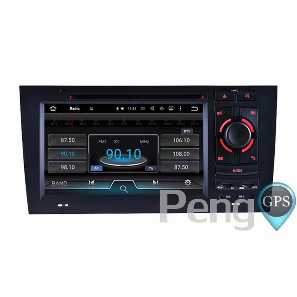 オクタコア CD DVD プレーヤー 2 Din ステレオアンドロイド 8.0 カーラジオアウディ A8 S8 1994-2003 GPS ナビゲーション Autoradio ヘッドユニット WIFI FM