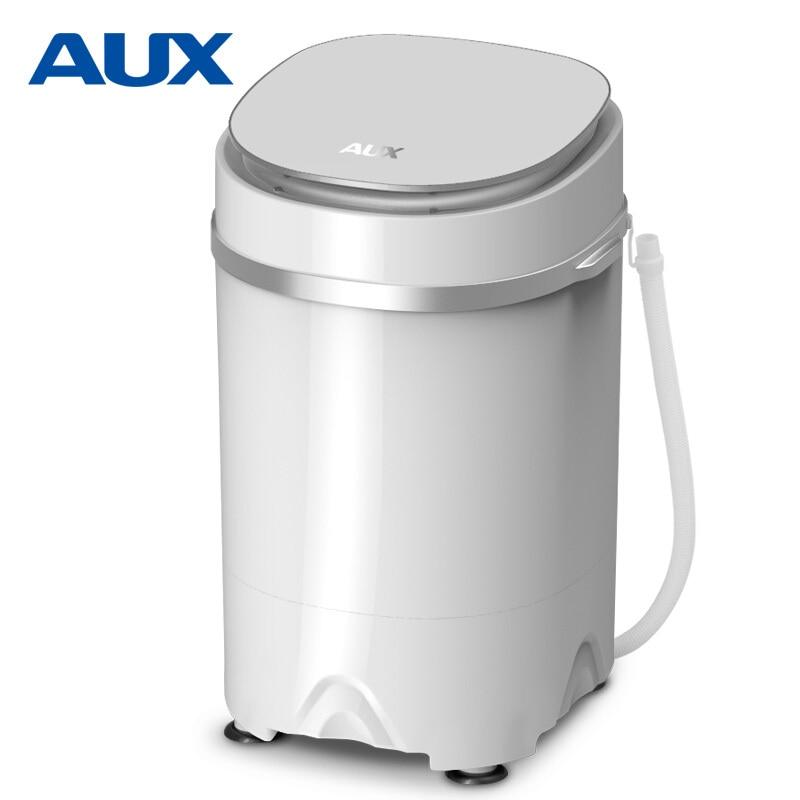 Portable Washing Machine Single-barrel Baby Fully-automatic Wheel Home Small Mini Washing Machine White Mini Barril