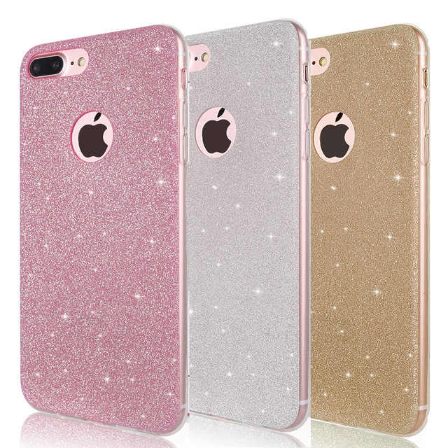 Funda de teléfono móvil TPU suave brillante para iPhone 6 s 6 S iPhone 7 8 Plus iPhone X 10 XR XS Max 6 Plus 6 Plus 7 Plus 8 Plus