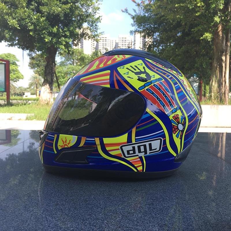 Casque intégral de marque dgl Casque moto moto rcycle vintage les cinq continents Casque moto rbike Casque Casco pour Casque Harley