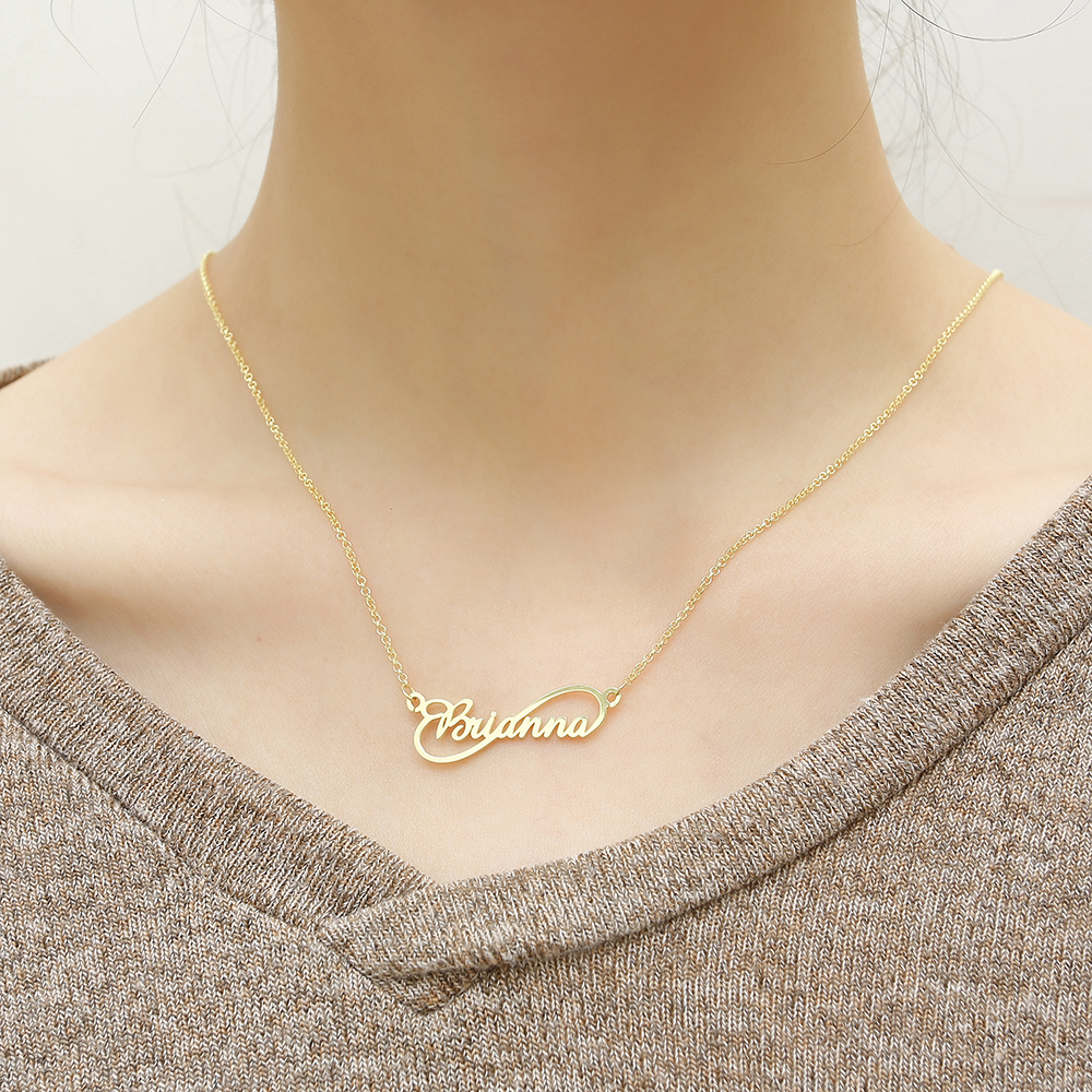 WindJune Custom Name Necklace Women Necklace & Pendant Stainless Steel Personalized NameNecklace Custom Jewelry Gift Wholesale (5)