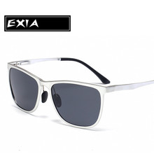 Silver Alloy Frame Grey Polarized Sunglasses Men Trency Spectacle Can be with Prescription Lenses EXIA OPTICAL KD-0720 Series