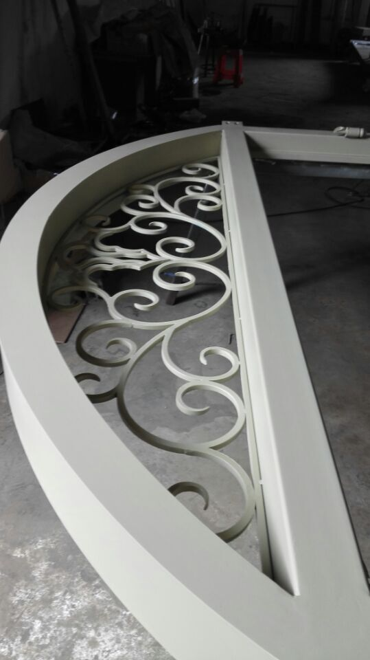 Shanghai China factory producing wrought Iron doors high quality export to U.S ,model hench ad34