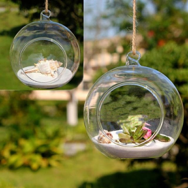 Glass Vase Wedding Decoration Props Hanging Glass Terrarium Planters