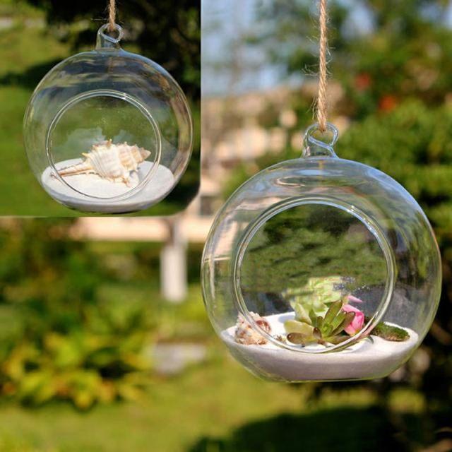 Online Shop Glass Vase Wedding Decoration Props Hanging Glass