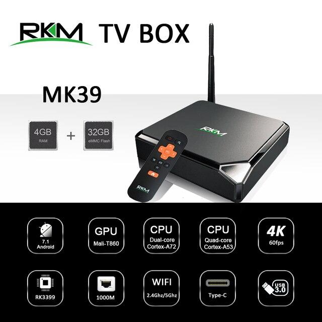 Android 7.1 TV BOX RKM MK39 Rockchip RK3399 4GB 32GB 802.11AC 2.4G 5G 1000M LAN USB3.0 Type-c Digital Signage Media Player