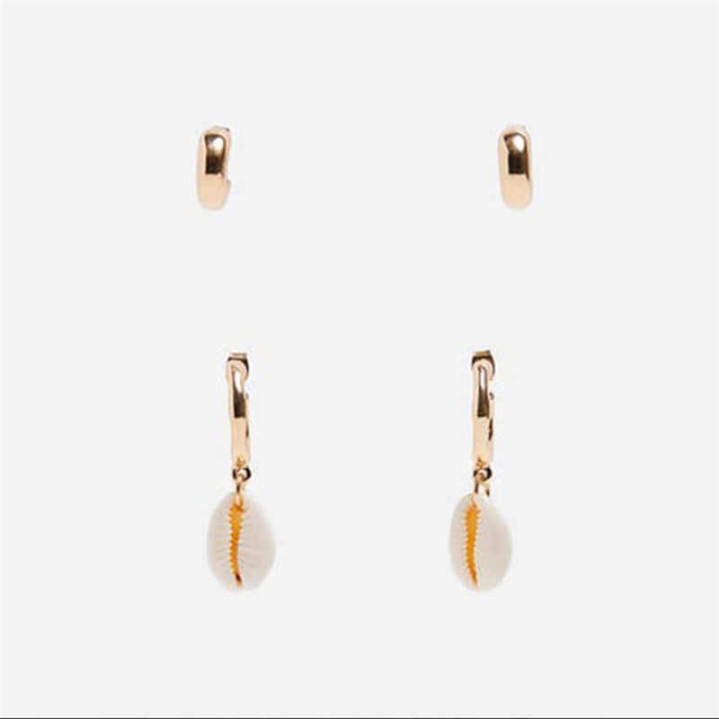 2019 Hot Sale Fashion Shell Earrings ZA Statement Drop Dangle Earrings For Women Wedding Party Gifts Irregular Jewelry Wholesale