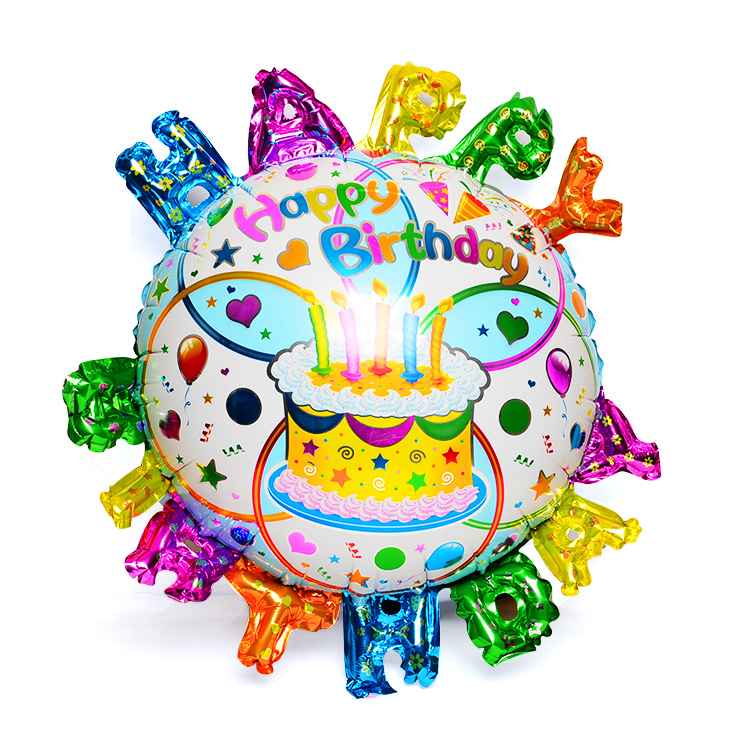 Happy Birthday Balloons for Baby Birthday Ballons Big Foil Balloon for Kids Gift