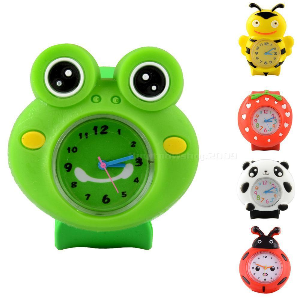 Candy Colors 3D Cartoon Children's Watches Quartz WristWatch Sports Silicone Slap Watch For Kid Toys 220v 180w r32 r1234yf special new refrigerant vacuum pump single stage pump air conditioning and refrigeration tools v i125y r32