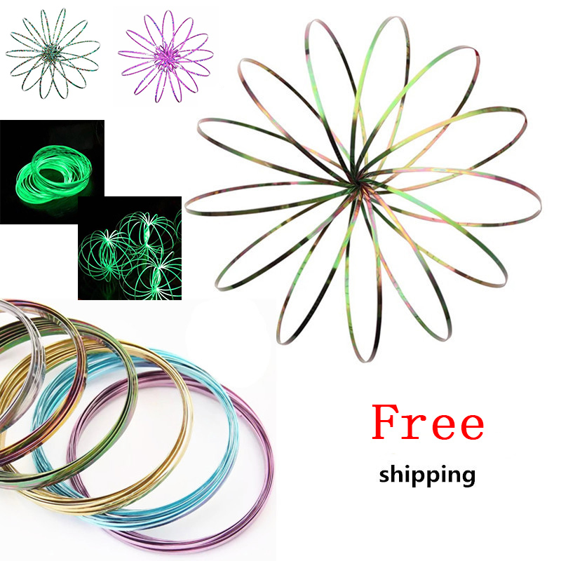 цены 2018 Magic Ring Toroflux Torofluxus Flowtoy Amazing Flow Rings Toys Kinetic Spring Toy Funny Outdoor Game Intelligent Toy Fidget