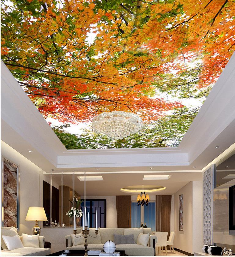 Photo Wallpaper Custom Wallpaper Ceilings Landscape Leaf