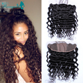 7A Silk Base Frontal Brazilian Loose Wave Ear To Ear Full Frontal Lace Closure Brazilian Lace Frontal Closure With Baby Hair