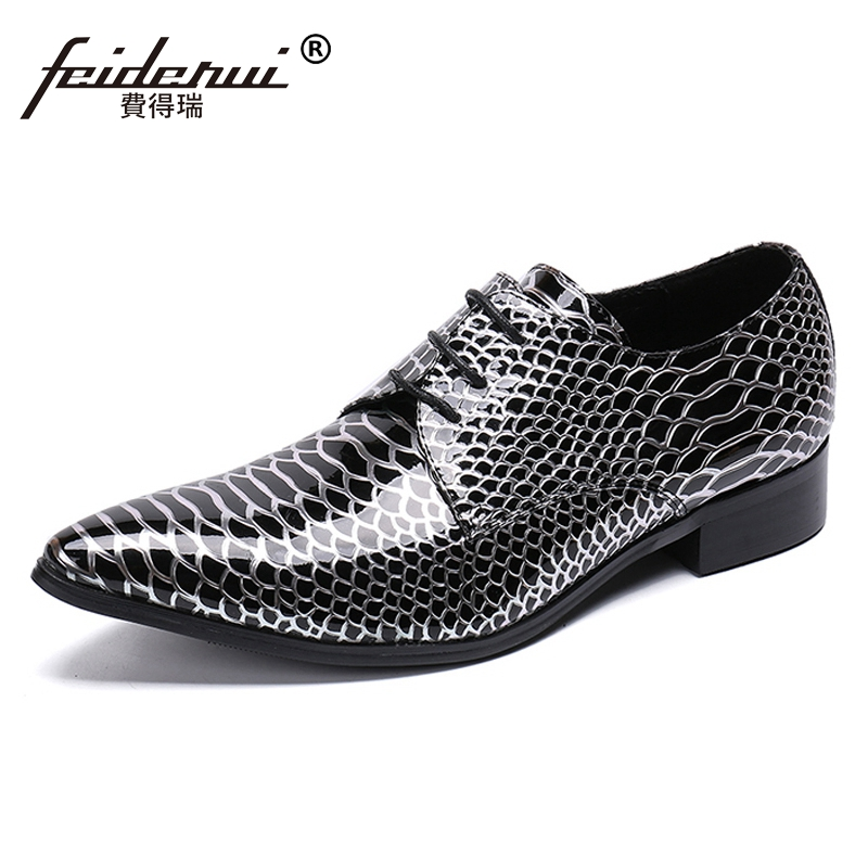 Luxury Pointed Toe Lace up Man Handmade Derby Footwear Formal Dress Alligator Genuine Leather Mens Wedding Party Shoes SL362Luxury Pointed Toe Lace up Man Handmade Derby Footwear Formal Dress Alligator Genuine Leather Mens Wedding Party Shoes SL362