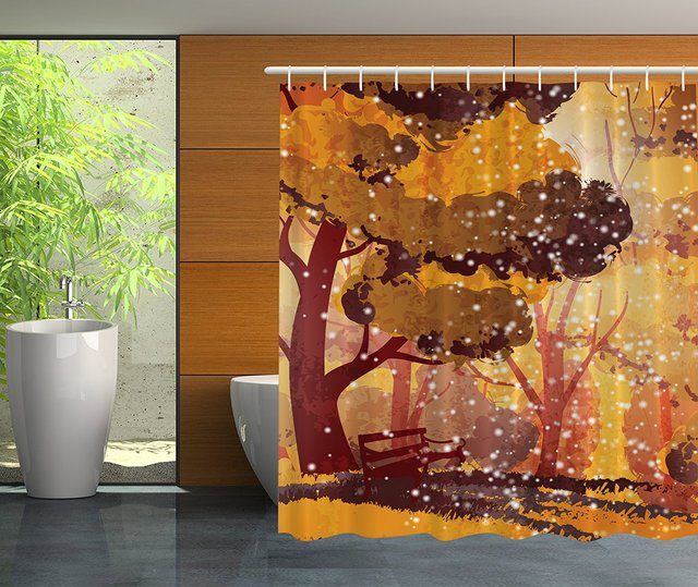 Better Curtains Waterproof 69 Inch By 70 Polyester Magical Tree Northern