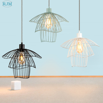 Nordic Modern Simple LED Pendant Lamps Creative Personality Retro Industrial Hang Lamps Kitchen Bedroom Living Room Bar Lighting