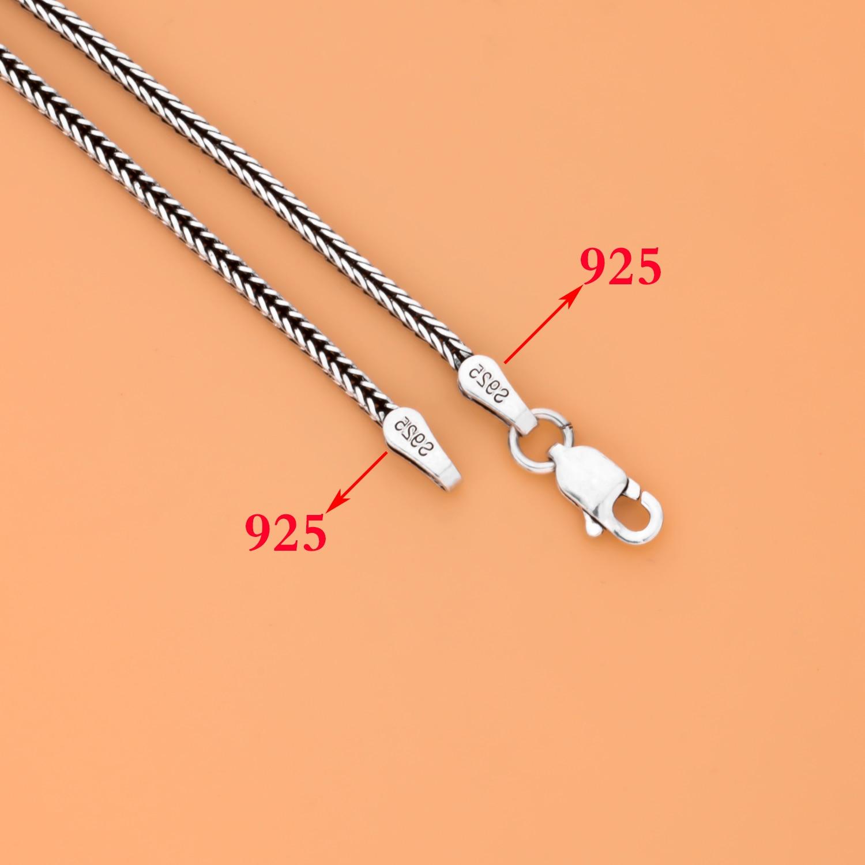 MetJakt Punk Dragon pendentif avec Agate solide 925 pendentif en argent Sterling collier et 16-32 pouces chaîne de serpent - 6